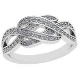 0.26 Ctw VS/SI1 Diamond 14K White Gold Ring