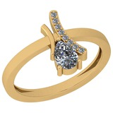 0.56 Ctw Diamond I2/I3 14K Yellow Gold Vintage Style Ring