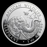 Somalia 1 oz Silver Elephant 2018