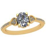 0.70 Ctw Diamond I2/I3 14K Yellow Gold Vintage Style Ring