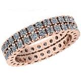 3.44 Ctw VS/SI1 Diamond 14K Rose Gold Band Ring