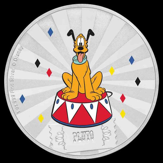 2019 1 oz Silver Disney Carnival Collection Pluto