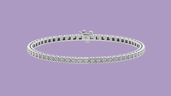 2.50 Ctw VS/SI1 Diamond Tennis Bracelet 14K White Gold Gold