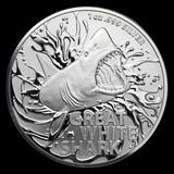 2021 Australia 1 oz Silver Great White Shark Uncirculated