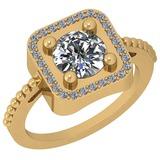 1.46 Ctw Diamond I2/I3 14K Yellow Gold Vintage Style Ring