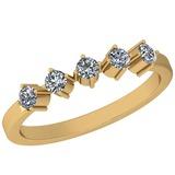 0.34 Ctw Diamond I2/I3 14K Yellow Gold Eternity Band Ring