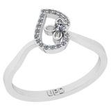 0.13 Ctw SI2/I1 Diamond 14K White Gold Leaf Ring