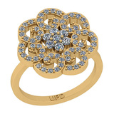 0.75 Ctw SI2/I1 Diamond 14K Yellow Gold Vintage Style Engagement Ring