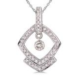 14K White Gold Dashing Diamonds Pendant 0.3 CTW