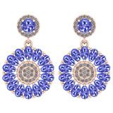 6.04 Ctw I2/I3 Tanzanite And Diamond 14K Rose Gold Earrings