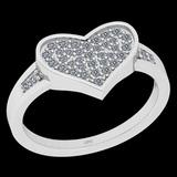 0.27 Ctw I2/I3 Diamond 10K White Gold Entertiy Heart Shape Ring