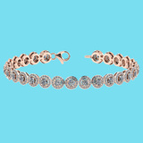 Certified 4.59 Ctw SI1/I2 Diamond 18K Rose Gold Bracelet