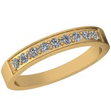 0.25 Ctw Diamond I2/I3 14K Yellow Gold Eternity Band Ring
