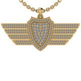 0.75 Ctw SI2/I1 Diamond 14K Yellow Gold Men's Pendant