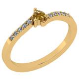 0.20 Ct Natural Yellow Diamond I2/I3And White Diamond I2/I3 10K Yellow Gold Vintage Style Ring