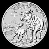 2021 Australia 1/2 oz Silver Lunar Ox Uncirculated Series III