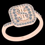 0.29 Ctw I2/I3 Diamond 10K Rose Gold Casino theme Ring