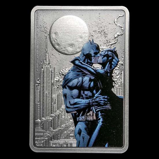 Collectible The Caped Crusader - The Kiss 2020 Niue 1 oz Silver Coin