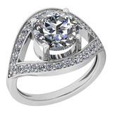 2.30 Ctw Diamond I2/I3 14K White Gold Vintage Style Halo Ring