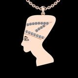 1.03 Ctw SI2/I1 Diamond 14K Rose Gold Antique Vintage Style Face Pendant