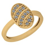 0.18 Ctw SI2/I1 Diamond Platinum 14K Yellow Gold Plated Ring