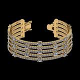 20.06 Ctw SI2/I1 Diamond Style 14K Yellow Gold Bracelet