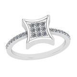 0.25 Ctw VS/SI1 Diamond 14K White Gold Eternity Ring