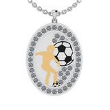 2.15 Ctw SI2/I1 Diamond 10K White And Yellow Gold Sports Pendant