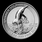 2020 AUS 1 oz Silver Dolphin Proof High Relief w/Box & COA