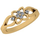 0.15 Ctw VS/SI1 Diamond 14K Yellow Gold Ring