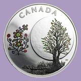 2018 Canada 1/4 oz Silver $3 The Thirteen Teachings Flower Moon