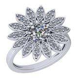 1.29 Ctw VS/SI1 Diamond 14K White Gold Halo Ring