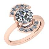 1.50 Ctw Diamond I2/I3 14K Rose Gold Vintage Style Ring