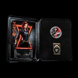 2020 Fiji 1 oz Silver Black Widow Proof With Box & COA