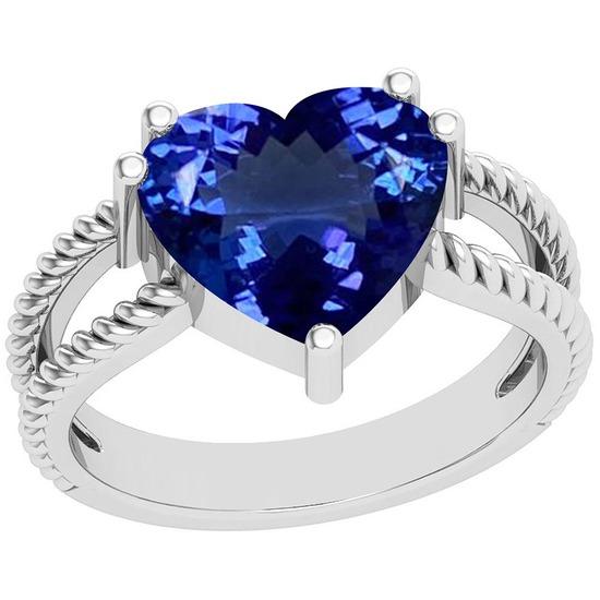 4.43 Ctw Tanzanite Platinum Ring