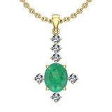 2.91 Ctw VS/SI1 Emerald And Diamond 14K Yellow Gold