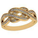 0.26 Ctw VS/SI1 Diamond 14K Yellow Gold Ring