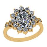 2.88 Ctw VS/I2 Diamond 14K Yellow Gold Vintage Ring