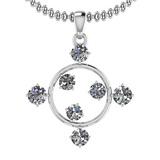 0.78 Ctw VS/SI1 Diamond 14K White Gold Necklace