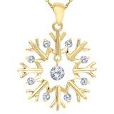 14K Yellow Gold Dashing Diamonds Pendant