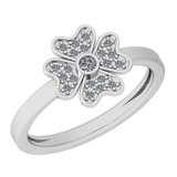 0.14 Ctw VS/SI1 Diamond 14K White Gold Ring