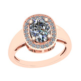 1.77 Ctw VS/I2 Diamond 14K Rose Gold Vintage Ring
