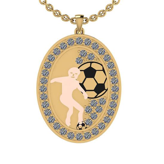 2.15 Ctw SI2/I1 Diamond 10K Yellow & Rose Gold Sports Pendant