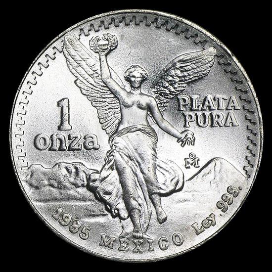 1985 1 oz Mexican Silver Libertad