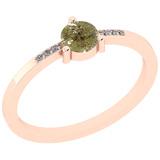 0.39 Ct Natural Yellow Diamond I2/I3And White Diamond I2/I3 14k Rose Gold Vintage Style Ring