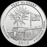 2013 Silver 5oz. Fort McHenry ATB