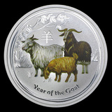 2015 Australia 1 oz Silver Goat (Colorized)