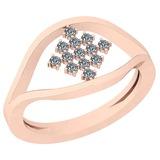 0.18 Ctw VS/SI1 Diamond 14K Rose Gold Ring