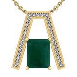 21.72 Ctw VS/SI1 Emerald And Diamond Platinum 14K Yellow Gold Plated Pendant