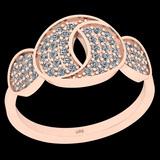 0.43 Ctw I2/I3 Diamond 10K Rose Gold Entertiy Ring